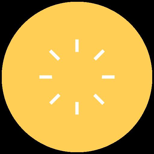 brightness, contrast, display, full brightness, light, sun, weather icon