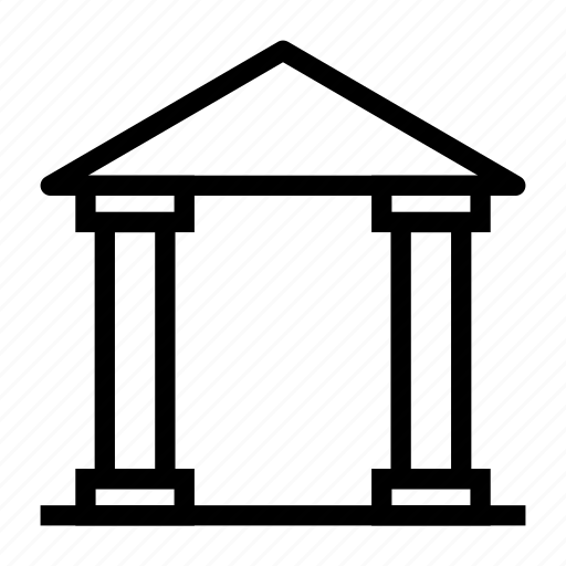 bank, building, court, property, realestate icon