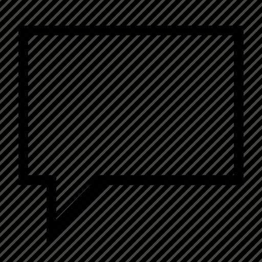 bubble, comment, dialog, message, speech icon