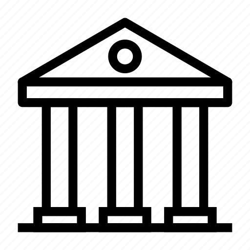 bank, building, court, judicial, realestate icon