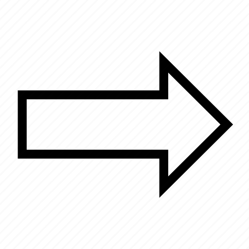 arrow, chevron, direction, pointer, right icon