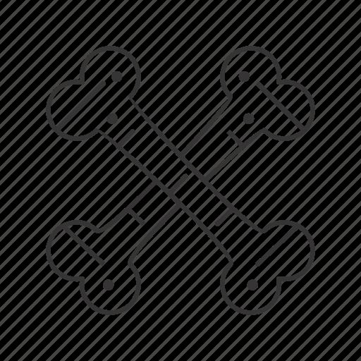 Bones, cross, skeleton icon - Download on Iconfinder
