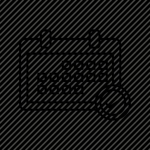 Calendar, calender, chek, timetable icon - Download on Iconfinder
