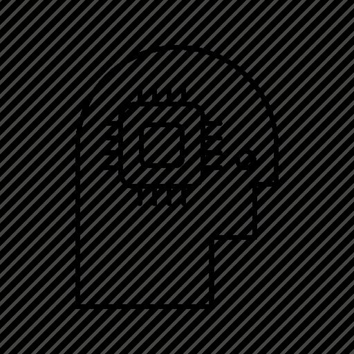 Brain, chip, creativity, head, mind icon - Download on Iconfinder