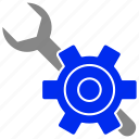 gear, online, options, services, setting icon
