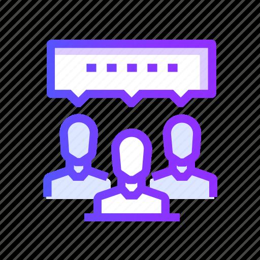 bubble, communication, conversation, forum, interaction icon