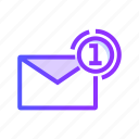 communication, email, envelope, inbox, mail icon