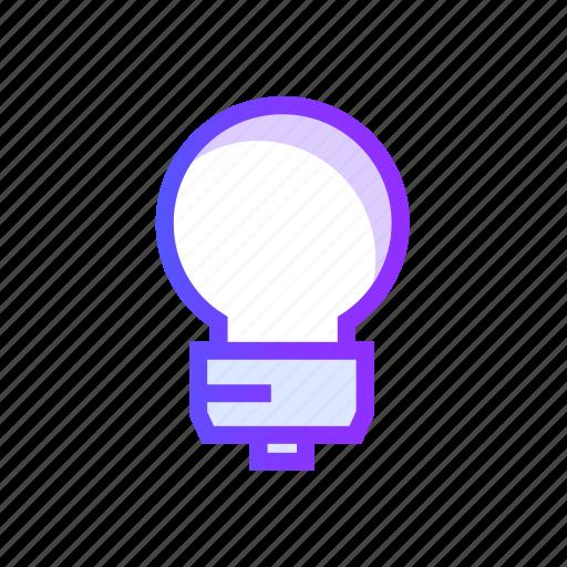 bulb, electricity, energy, idea, light icon