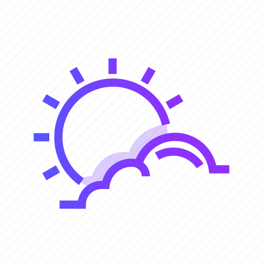 Weather, cloud, forecast, rain, sun icon - Download on Iconfinder