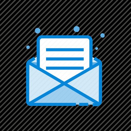 e, envelope, inbox, mail, open icon