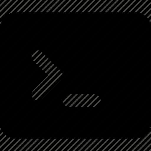 code, terminal, window icon