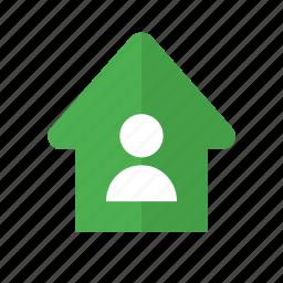 design, home, main, material, screen, user icon