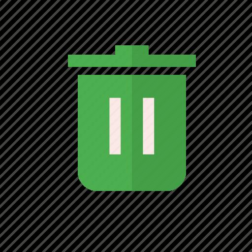 application, delete, design, material, trash icon