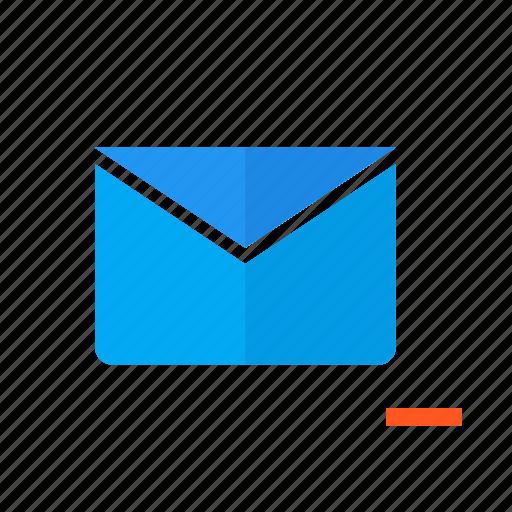 delete, design, email, mail, mailbox, material, remove icon