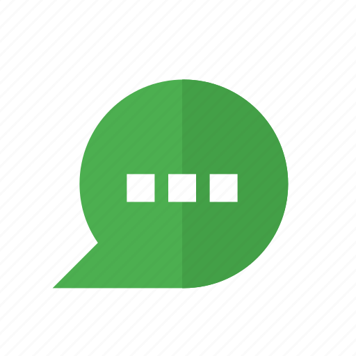 bubble, chat, conversation, design, material, message, text icon