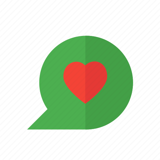 chat, conversation, design, love, material, message icon