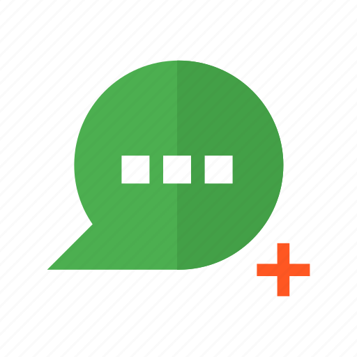 add, chat, design, insert, material, message, text icon