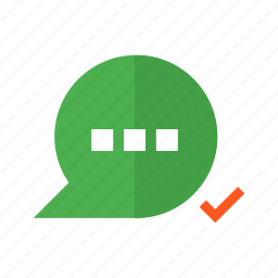 chat, design, material, message, sent, text, valid icon