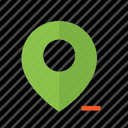 delete, design, location, map, material, pin, remove icon