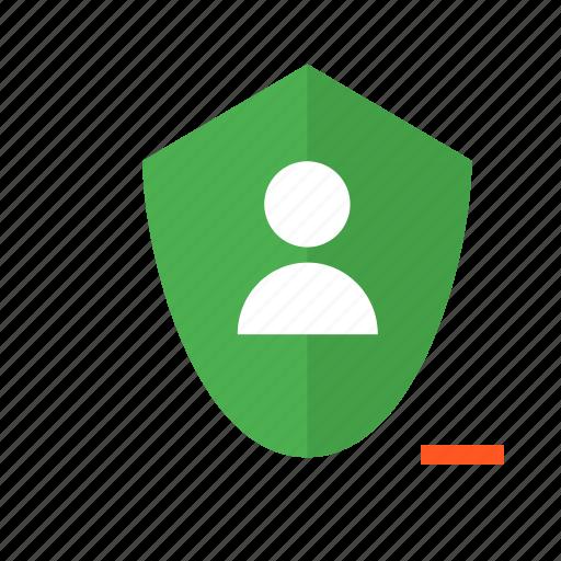 delete, design, material, remove, secure, security, shield icon