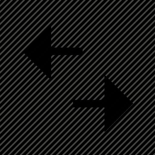 arrow, left, right, side icon