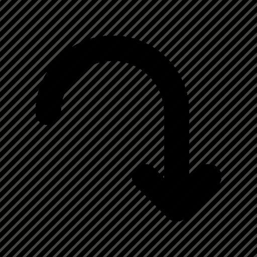 arrow, road, sign icon