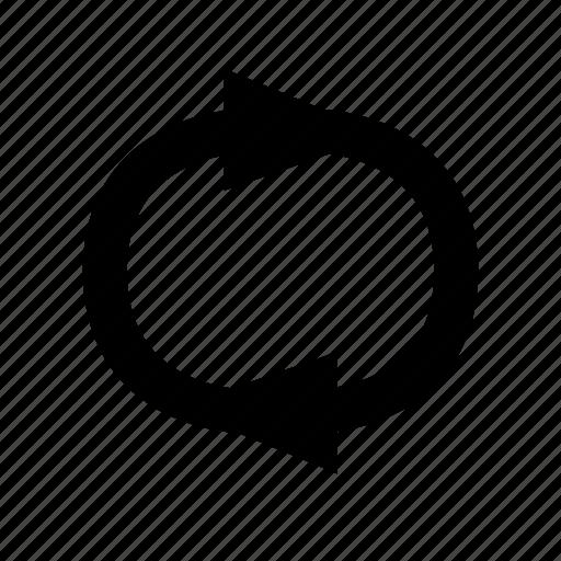 arrow, refresh, rotate, side icon