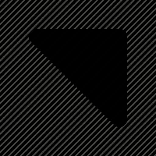 arrow, side, upper icon