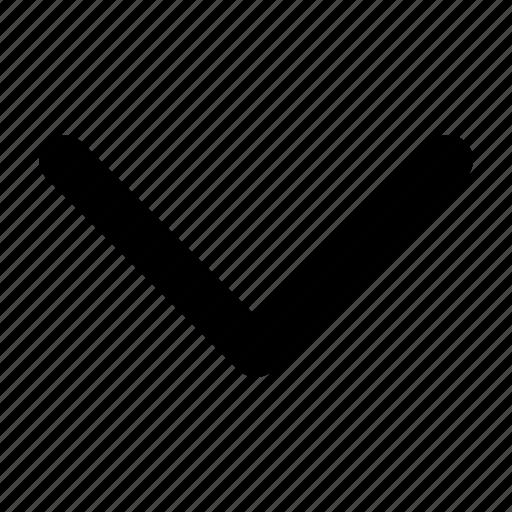 arrow, down, sign icon