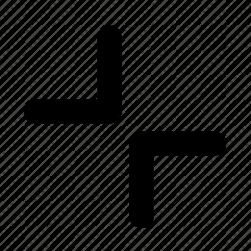 arrow, side, sign icon