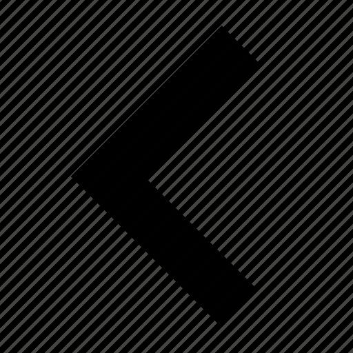 arrow, left, side icon