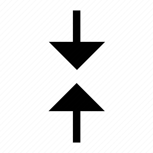arrow, down, side, up icon
