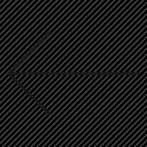 arrow, back, backward, down, left, next, previous icon