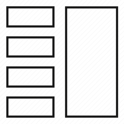 column, columns, grid, layout, theme, web design icon