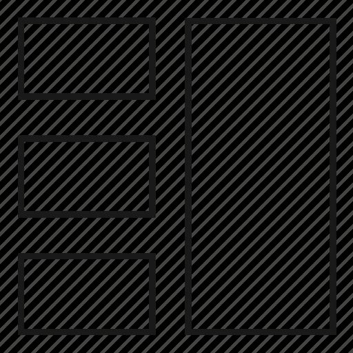 column, columns, grid, internet, layout, theme, web design icon