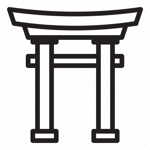 gate, japan, sinto, temple icon