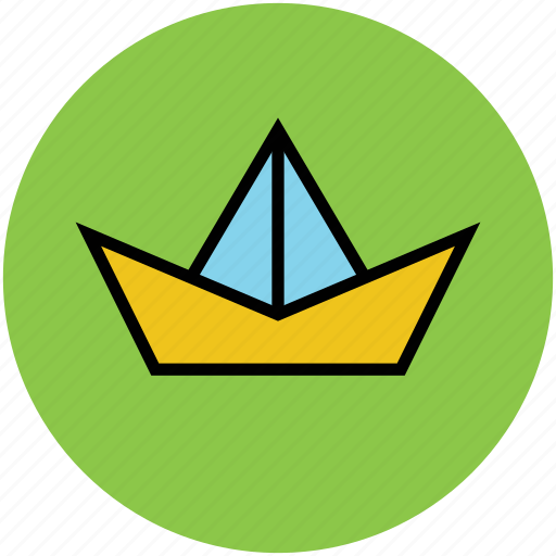 boat, fun, game, origami paper ship, paper boat, toy icon