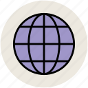 earth, global, globe, internet, planet, universal, world globe icon
