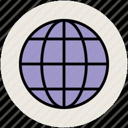 earth, global, globe, internet, planet, universal, world globe icon