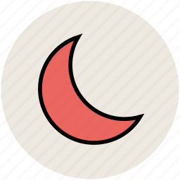 crescent, moon, new moon, night, sky, weather icon