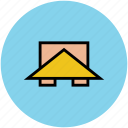 building, cabin, hut, roof, top, wooden roof icon