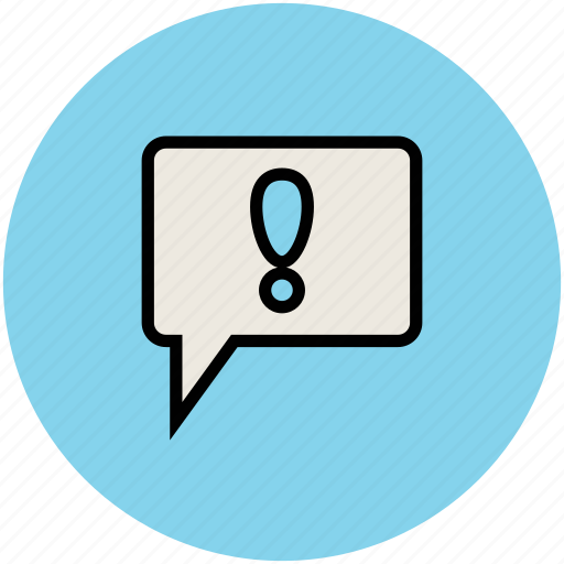 chat error, chat sign, exclamation mark, question and answer, thinking icon
