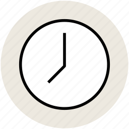 clock, round clock, time, time keeper, timer, wall clock icon