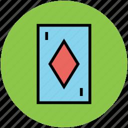 card game, casino, diamond card, gambling, poker card icon