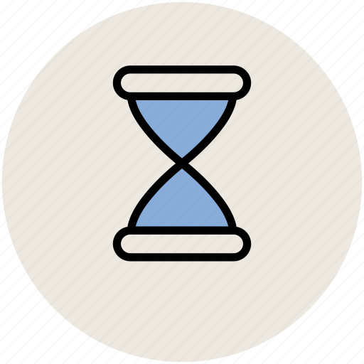 egg timer, glass hour, sand clock, sand timer, sand watch, sandglass icon