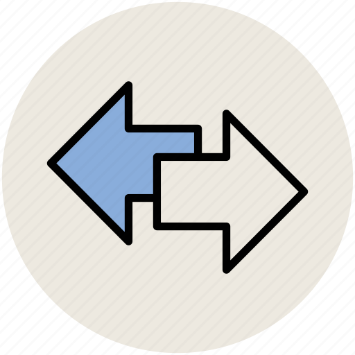 arrows, directional arrows, directions, left and right, opposite arrows icon