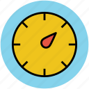 clock, round clock, time, timekeeper, timer, wall clock, watch icon