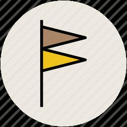 banner, ensign, flag, location flag, triangular flag icon