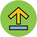 arrow, up sign, upload, uploading, upward icon