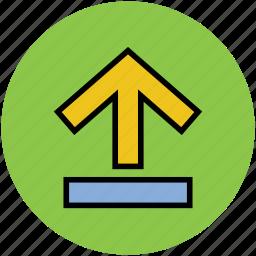 arrow, up sign, upload, uploading, upward icon